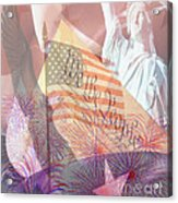God Bless The Usa Acrylic Print by Cheryl Young