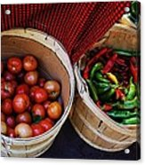Going To Market Acrylic Print by Paulette Thomas
