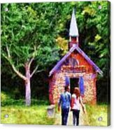 Going To The Chapel Acrylic Print by Jai Johnson
