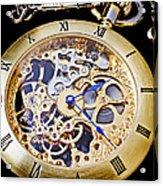 Gold Pocket Watch Acrylic Print by Garry Gay