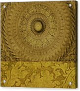 Gold Wheel I Acrylic Print by Ricki Mountain