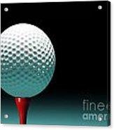 Golf Ball Acrylic Print by Gualtiero Boffi