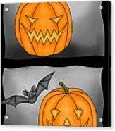 Good Pumpkin - Bad Pumpkin Acrylic Print by Claudia Pflicke