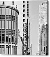 Goodman Theatre Center Chicago Acrylic Print by Christine Till