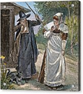 Goodwife Walford, 1692 Acrylic Print by Granger