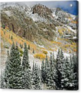 Gore Range Cold Acrylic Print by Adam Pender