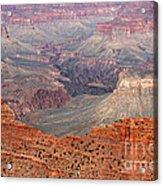 Grand Canyon Crimson Ridge Acrylic Print by Michael Kirsh