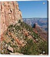 Grand Canyon National Park Bright Angel Loop Arizona Usa Acrylic Print by Audrey Campion