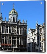 Grand Place Buildings Acrylic Print by Carol Groenen