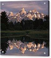 Grand Teton Range And Cloudy Sky Acrylic Print by Tim Fitzharris