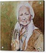 Grandmother Many Horses Acrylic Print by Patsy Sharpe