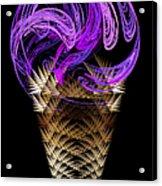 Grape Ice Cream Cone Acrylic Print by Andee Design