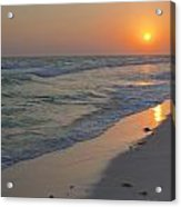 Grayton Beach Sunset 5 Acrylic Print by Charles Warren