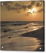 Grayton Beach Sunset Acrylic Print by Charles Warren