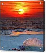 Grayton Beach Sunset IIi Acrylic Print by Charles Warren