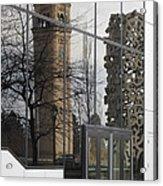 Great Northern Clocktower Reflection - Spokane Washington Acrylic Print by Daniel Hagerman