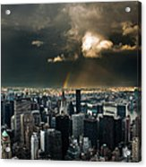Great Skies Over Manhattan Acrylic Print by Hannes Cmarits
