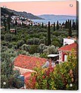 Greek Village  Acrylic Print by Emmanuel Panagiotakis
