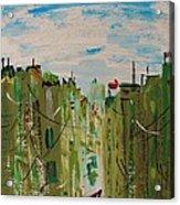 Green City Acrylic Print by Mary Carol Williams