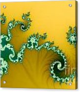Green In The Yellow Acrylic Print by Odon Czintos
