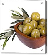 Green Olives Acrylic Print by Jane Rix
