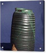 Green Vase Acrylic Print by Rick Ahlvers