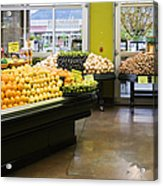 Grocery Store Produce Section Acrylic Print by Andersen Ross