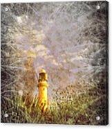 Grunge Light House Acrylic Print by Svetlana Sewell