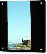 Guard Tower View Castillo San Felipe Del Morro San Juan Puerto Rico Acrylic Print by Shawn O'Brien