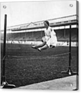 Gymnastic Jump Acrylic Print by Topical Press Agency