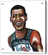 Haile Gebreselassie Acrylic Print by Emmanuel Baliyanga