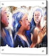 Haitian Chorus Singers Acrylic Print by Bob Salo