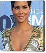 Halle Berry Wearing An Emilio Pucci Acrylic Print by Everett