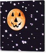 Halloween Night - Moon And Stars Acrylic Print by Steve Ohlsen