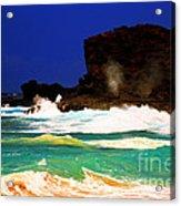 Halona Blowhole Acrylic Print by Cheryl Young