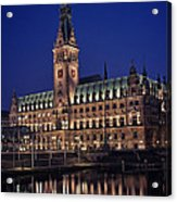 Hamburg City Hall Acrylic Print by Benjamin Matthijs
