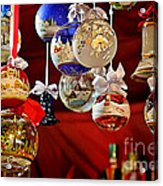 Handcrafted Mouth Blown Christmas Glass Balls Acrylic Print by Christine Till