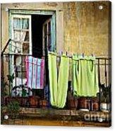 Hanged Clothes Acrylic Print by Carlos Caetano