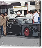 Hanging At The Car Show Acrylic Print by Steve McKinzie