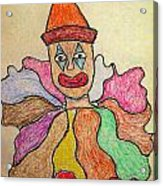 Happy Clown Acrylic Print by Robyn Louisell