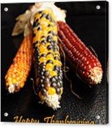 Happy Thanksgiving Card No.1 Acrylic Print by Luke Moore