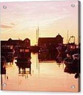Harbor At Sunrise Acrylic Print by Bilderbuch