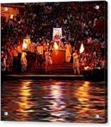 Haridwar Acrylic Print by Aunit Sharma