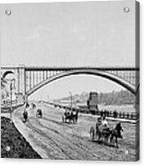 Harlem River Speedway Scene Beneath The George Washington Bridge Acrylic Print by International  Images