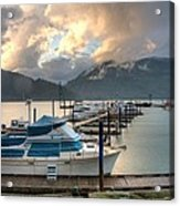 Harrison Lake At Dusk Acrylic Print by Lawrence Christopher