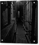 Haunted 1946 Battle Of Alcatraz Death Chamber Acrylic Print by Daniel Hagerman