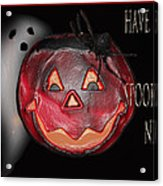 Have A Spooky Night Acrylic Print by Debra     Vatalaro
