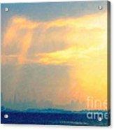 Hazy Light Over San Francisco Acrylic Print by Wingsdomain Art and Photography