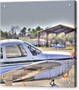 Hdr Airplane Looks Plane From Afar Under Canopy Acrylic Print by Pictures HDR