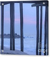 Hdr Beach Pier Ocean Beaches Art Photos Pictures Buy Sell Selling New Pics Sea Seaview Scenic   Acrylic Print by Pictures HDR